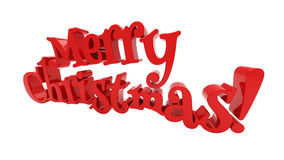 Merry Christmas lettering isolated Stock Images