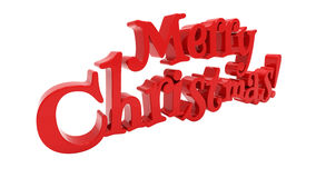 Merry Christmas lettering isolated Stock Image