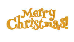 Merry Christmas lettering isolated Royalty Free Stock Photos