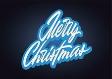 Merry Christmas lettering stock image