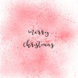 Merry Christmas lettering on red spray paint background Royalty Free Stock Photo