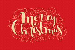 Merry Christmas lettering Royalty Free Stock Photos