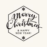 Merry Christmas Lettering Stock Photography