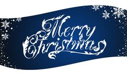 Merry Christmas lettering Royalty Free Stock Photo