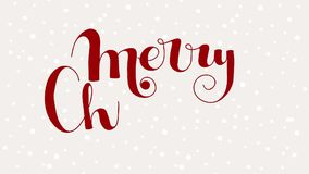 Merry Christmas lettering stock footage
