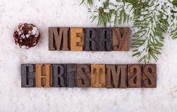 Merry Christmas Text Royalty Free Stock Photography