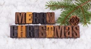 Merry Christmas Text Stock Image