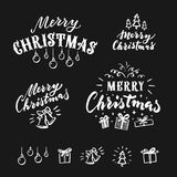 Merry Christmas  lettering. Vector design element Stock Photography