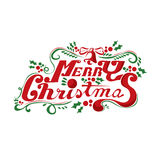Merry Christmas Lettering Vector. Illustration Stock Images