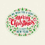 Merry Christmas lettering Stock Images