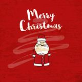 Merry christmas lettering on wooden background vector illustration