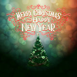 MERRY CHRISTMAS Lettering1 Royalty Free Stock Image