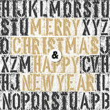 Merry Christmas Letterpress Concept Stock Image