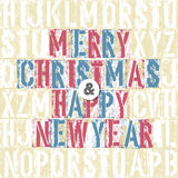 Merry Christmas Letterpress Concept With Colorful Letters. Illustration Stock Image
