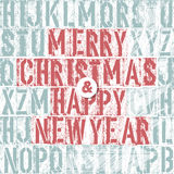 Merry Christmas Letterpress Concept Royalty Free Stock Photography