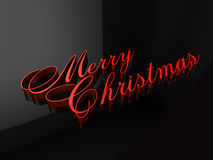 Merry Christmas Letters. This is a hi-resolution rendering created in Autodesk Maya that is usable in any future Christmas season Stock Images