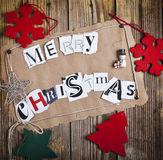 Merry Christmas letters Stock Images