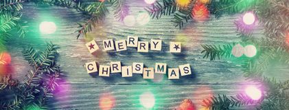 Merry christmas letters royalty free stock images