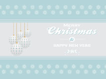 Merry Christmas on light blue landscape background Stock Photos