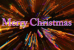 Merry christmas light trails Stock Photography