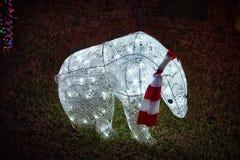 Merry christmas lights bear. Merry christmas lights beauty of colors lights bear royalty free stock photography