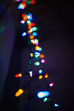 Merry christmas lights. Beauty of colors lights stock photos