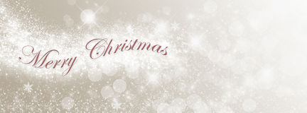 Merry Christmas Lights Stock Images
