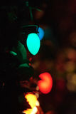Merry christmas lights tree. Merry christmas lights beauty of colors lights tree decoration royalty free stock photos
