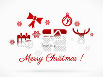 Merry Christmas loading Royalty Free Stock Photo