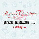 Merry Christmas is loading. Vector Holiday royalty free illustration
