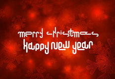 Merry christmas logo. Happy new years 2012 in red background Royalty Free Stock Photography