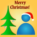 Merry Christmas logo Royalty Free Stock Photo