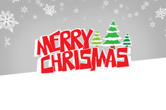 Merry christmas logo Royalty Free Stock Image