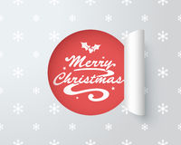 Merry Christmas Logo In Paper Cut Out Label 2 Royalty Free Stock Photos