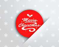 Merry Christmas Logo On Red Circle Note Pocket Royalty Free Stock Photo
