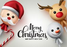 Free Merry Christmas Lollipops Vector Background. Merry Christmas Greeting Text. Royalty Free Stock Images - 160110429