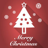 Merry christmas long shadow Royalty Free Stock Images