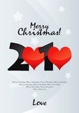 Merry Christmas Love. Vector Drawing Royalty Free Illustration
