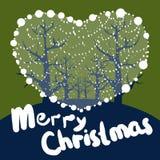Merry Christmas love. Merry Christmas! At beautiful night was Jesus born Royalty Free Stock Photos