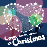 Merry Christmas love. Love came down at Christmas. At beautiful night was Jesus born Stock Illustration