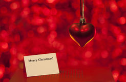 Merry Christmas love card Royalty Free Stock Photo