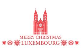 Merry Christmas Luxembourg. Vector Illustration. illustration EPS Stock Images