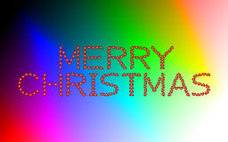 Merry Christmas made from hearts Stock Photo
