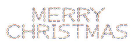 Merry Christmas made in rainbow colors. On white background, illustration vector illustration