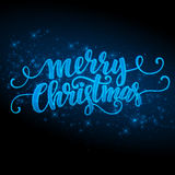 Merry Christmas  made a sparkler. Vector Royalty Free Stock Images