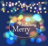 Merry Christmas magic. Flickering, lights happy holiday Royalty Free Stock Photography