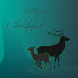 Merry Christmas magic forest card Royalty Free Stock Image