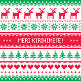 Merry Christmas in Maori - New Zealand pattern - Meri Kirihimete Royalty Free Stock Photo
