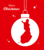Merry Christmas Map Finland Stock Images