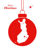 Merry Christmas Map Finland Stock Photo